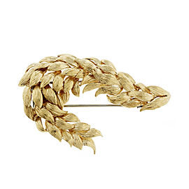 David Webb 18k Yellow Gold Vintage Spray Pin 1960