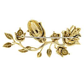 Tiffany & Co. 18K Yellow Gold Flower Pin Brooch