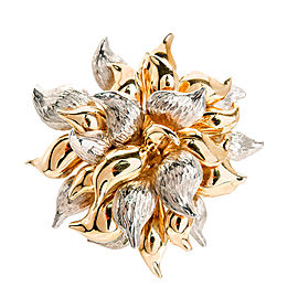 Tiffany & Co. 14K Yellow and White Gold Flower Pin Brooch