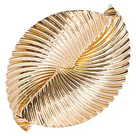 Tiffany & Co. 14K Yellow Gold Swirl Ribbon Pin Brooch