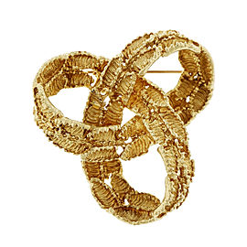 Tiffany & Co. 18K Yellow Gold Infinity Knot Pin Brooch
