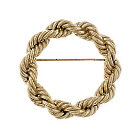 Tiffany & Co. 14K Yellow Gold Rope Circle Pin Brooch