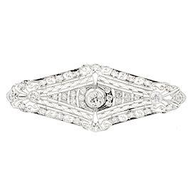 Platinum Art Deco 1920s 1.65ct Old Euro Diamond Pin