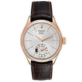 Rolex Cellini Dual Time Everose Rose Gold Automatic Mens Watch