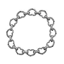 Aaron Basha 18K White Gold & Diamond Open Heart Bracelet