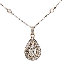 Diamond By the Yard Pear Shaped Cut Diamond Necklace