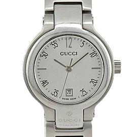 GUCCI 8900L Silver Dial SS Date Quartz Ladies Watch