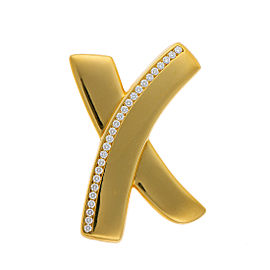 Tiffany & Co. 18k Yellow Gold Diamond X Brooch
