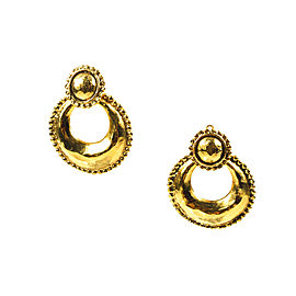 Chanel Gold Tone Metal Earrings