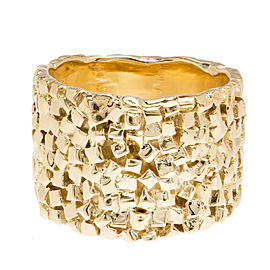 18K Yellow Gold Band Ring Size 5.5