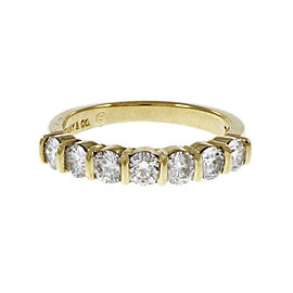 Tiffany & Co. 18K Yellow Gold with 0.91ct. Diamond Wedding Band Ring Size 6