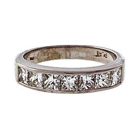 Platinum 1.40ct Diamond Band Ring Size 7.5