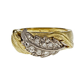 Spitzer & Furman 18K Yellow Gold with 0.40ct Diamond Leaf Ring Size 6.75