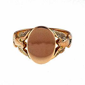 Vintage 14K Pink Gold Signet Ring Size 11.5