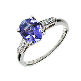 Vintage Rare Platinum with 2.05ct Color Change Oval Sapphire & Diamond Ring Size 6