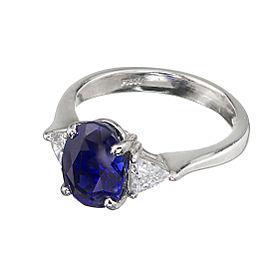 Platinum 3.18ct Sapphire & Diamond Ring Size 6