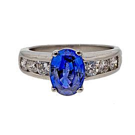 Platinum 1.71ct Sapphire & Diamond Ring Size 7