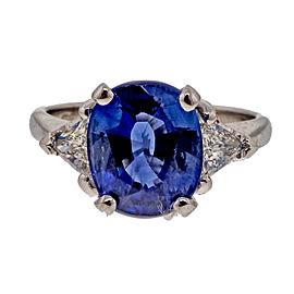 Platinum 3.59ct Sapphire & Diamond Ring Size 6