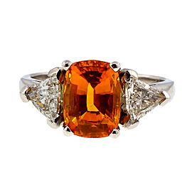 Platinum 2.89ct Sapphire & Diamond Ring Size 6.75