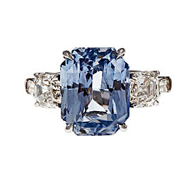 Peter Suchy Platinum with 13.25ct. Sapphire and 2.55ct. Diamond Ring Size 6.75