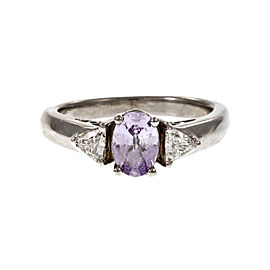 Platinum with Sapphire and Diamond Ring Size 6.75