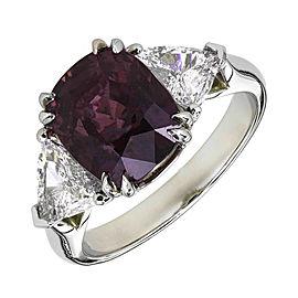 Platinum Diamond & Sapphire Ring Size 6.5