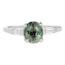 Platinum 1.57ct Alexandrite & Diamond Ring Size 6.5