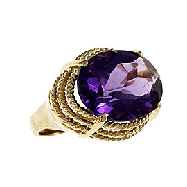 14K Yellow Gold with 11.25ct Amethyst Ring Size 7.5