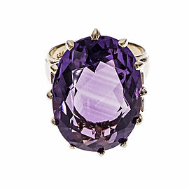 14K Yellow Gold Amethyst Ring Size 6.75