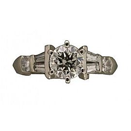 Platinum 0.81ct. Diamond Engagement Ring Size 4.75