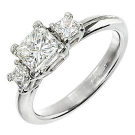 Platinum & Diamond 3 Stone Ring Size 7