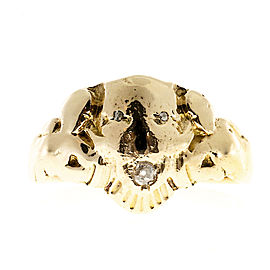 14K Yellow Gold with 0.09ct Diamond Ring Size 8.25
