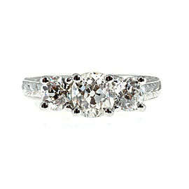 Platinum Diamond 3 Stone Ring Size 6.5