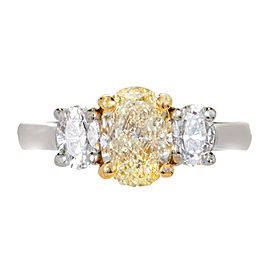 18K White & Yellow Gold with 2.28ct Diamond Ring Size 5.75