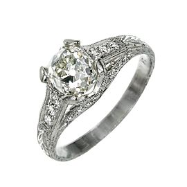 Vintage Platinum with Diamond Ring Size 7