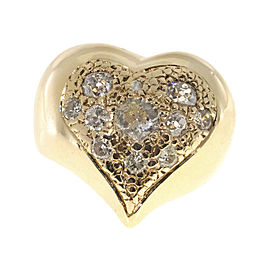 14K Yellow Gold with 0.95ct Diamond Heart Shape Ring Size 4.5