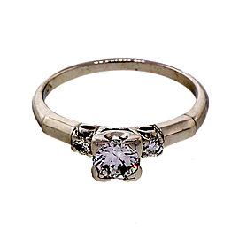 Platinum 0.35ct Diamond Engagement Ring Size 5.25