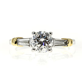Platinum & 18K Yellow Gold with Diamond Ring Size 5.75