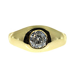 Vintage 14K Yellow Gold 0.46ct Brilliant Cut Diamond Ring Size 3