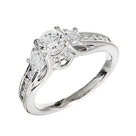 14k White Gold Diamond Engagement Ring Size 8 1/4