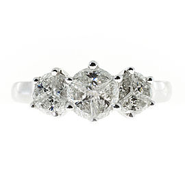 Vintage 14K White Gold with 1.59ct. Diamond Ring Size 8
