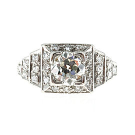Vintage Platinum and Diamond Art Deco Engagement Ring Size 7.25