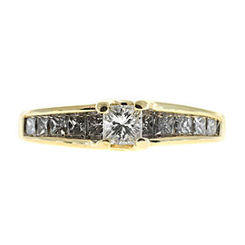 14K Yellow Gold with 0.93ct Diamond Ring Size 7.25