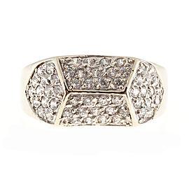 14K White Gold 1.12ct Diamond Vintage Ring Size 7.5