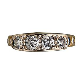 14k Yellow Gold Vintage 1.20ctw Diamond Ring Size
