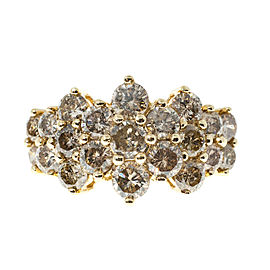 10K Yellow Gold with 2.25ct Diamond Ring Size 7.5