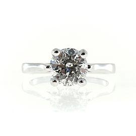 Vintage 14K White Gold 1.91ct Round Diamond Ring Size 6.5
