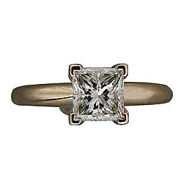14k White Gold 1.20ct Princess Cut Diamond Ring Size 5.75