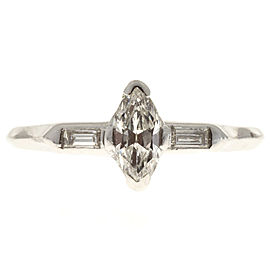 Vintage Platinum with .45ct Marquise Diamond Ring Size 9