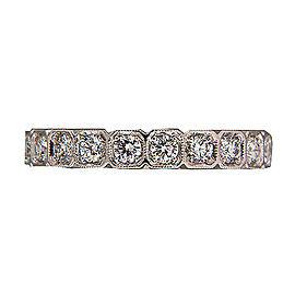 Platinum Vintage Art Deco Style Diamond .75ct Ring Size 6 1/2
